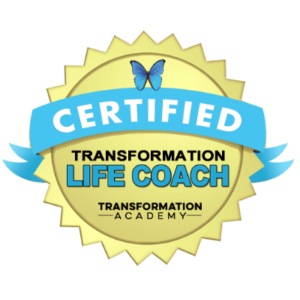 transformation life coach certification badge by the transformation academy